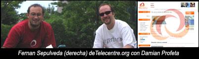 Damian Profeta y Fernan Sepulveda (telecentre.org)Toronto 2006